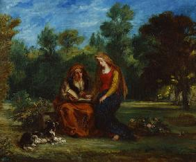 Delacroix, Ferdinand Victor Eug�ne : The Education of the Virgi...