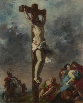 Delacroix, Ferdinand Victor Eug�ne : Christ on the Cross