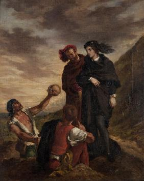 Delacroix, Ferdinand Victor Eug�ne : Hamlet and Horatio in the ...