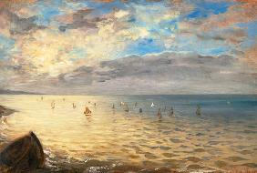Delacroix, Ferdinand Victor Eug�ne : Look at the sea of the hil...
