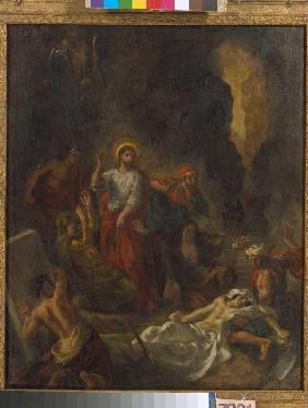 Delacroix, Ferdinand Victor Eug�ne : The Auferweckung of the La...
