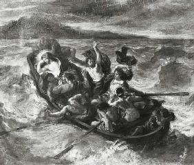 Delacroix, Ferdinand Victor Eug�ne : Christ on the Sea of Galil...