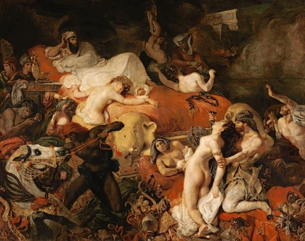 Delacroix, Ferdinand Victor Eug�ne : The Death of Sardanapal