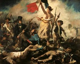 Delacroix, Ferdinand Victor Eug�ne : The liberty on the barrica...