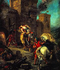 Delacroix, Ferdinand Victor Eug�ne : The kidnapping of Rebecca.