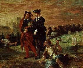 Delacroix, Ferdinand Victor Eug�ne : Hamlet and Horatio on the ...
