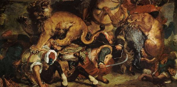 Delacroix, Ferdinand Victor Eug�ne : The Lion Hunt