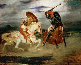 Delacroix, Ferdinand Victor Eug�ne : Knights Fighting in the Co...