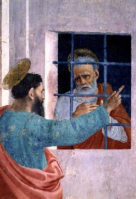 St. Peter Visited in Jail by St. Paul