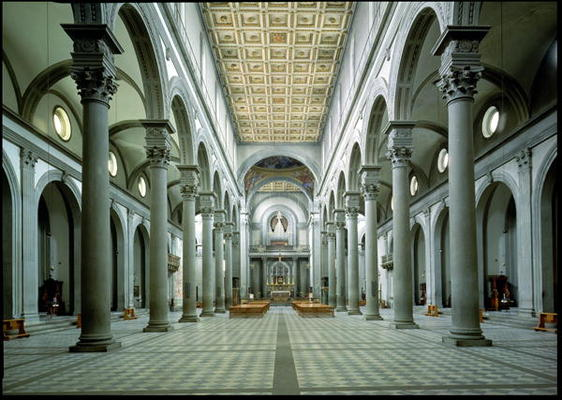 View Of The Nave 1425 46 Photo Filippo Brunelleschi