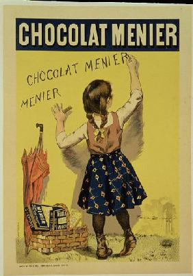 Reproduction of a poster advertising 'Menier' chocolate