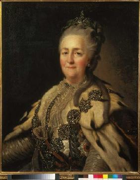 Portrait of the czarina Katharina II.