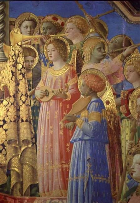 The Coronation Of The Virgin Detail Sho Fra Angelico As