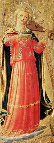 Beato Angelico, Fra : Angel playing instruments