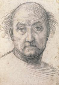 Head study of a man (probably self-portrait)