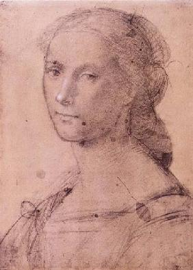 Portrait of a young woman (chalk on paper)