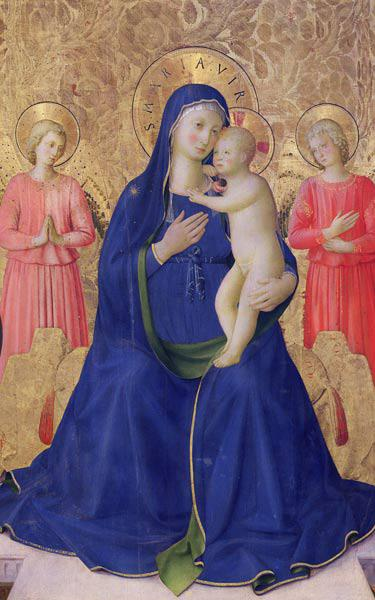 The Bosco ai Frati Altarpiece: The Virgin and Child enthroned with two angels, 1452 (detail of 43968