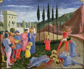 The Martyrdom of St. Cosmas and St. Damian, from the predella of the San Marco altarpiece, c.1440