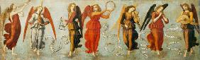 Botticini, Francesco : Angels playing musical ins...