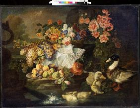 Still life with Fruits and Ducks