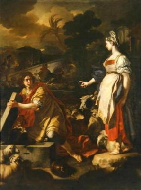 Jacob and Rachel, c.1710 (oil on canvas)