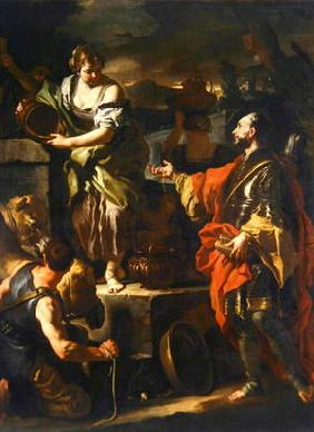Rebecca and the Servant of Abraham, c.1710 (oil on canvas)