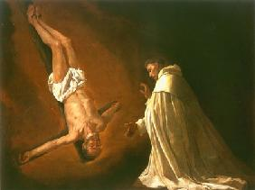 The vision of the St. Peter Nolascus with the crucified apostle Peter
