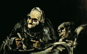 Two Old Men Eating, one of the 'Black Paintings'