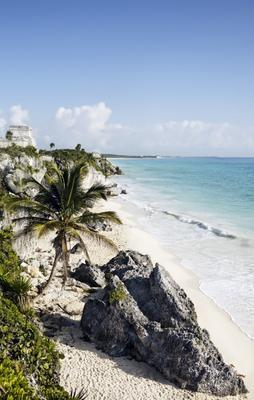 mayan archeologic site of tulum