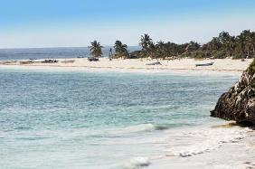 beach of tulum in yucatan