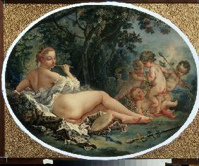 Boucher, Fran�ois : Bacchante playing a reed-p...
