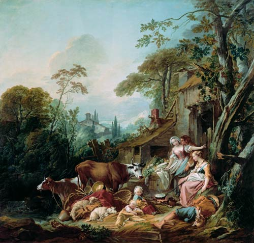 Rural Idyll Fran 231 Ois Boucher As Art Print Or Hand