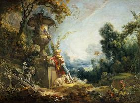 Boucher, Fran�ois : Pastoral Scene, or Young S...