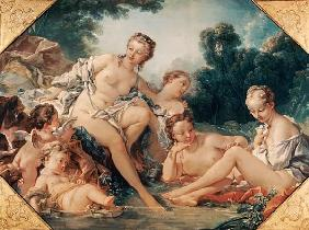 Nymphs and taking a bath Amouretten