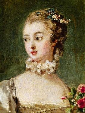 Madame de Pompadour (1721-64)  (detail of 26230)