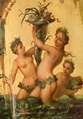 Boucher, Fran�ois : Detail of sirens holding a...
