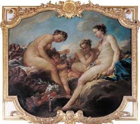 The Three Graces, decorative panel from the Bedroom of the Princess of Rohan