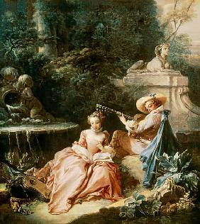 Boucher, Fran�ois : The Music Lesson