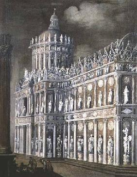 Architectural Fantasy depicting the healing of the paralysed