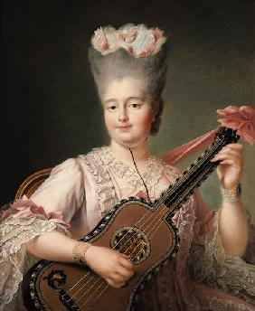Portrait of Marie-Clothilde of France (1759-1802), also known as Madame Clothilde, queen of Sardinia