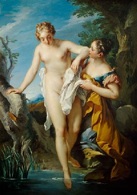 The Bather and her Maid