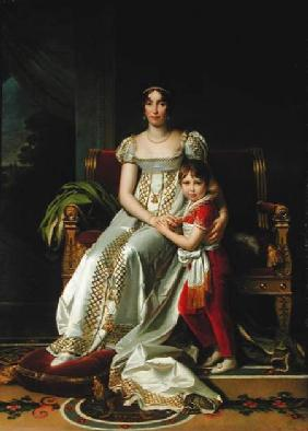 Hortense de Beauharnais (1783-1837) Queen of Holland and her Son