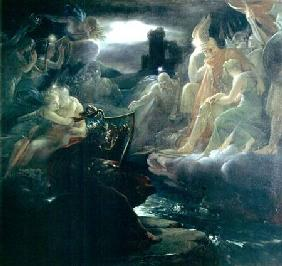 Ossian Conjuring up the Spirits on the Banks of the River Lora with the Sound of his Harp