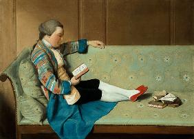 Portrait of a Man Reading - John Farr Reading Horace's Odes  (post-restoration)