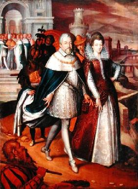 Portrait of Ferdinand I (1549-1609) Grand Duke of Tuscany, and his Niece Marie (1573-1642), future w