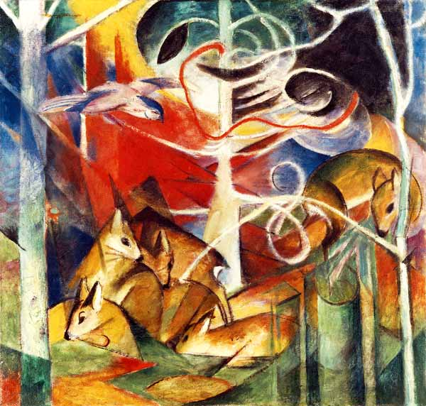 Deer In The Woods I Franz Marc As Art Print Or Hand