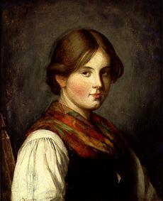 von Defregger, Franz : Young smallholder girl