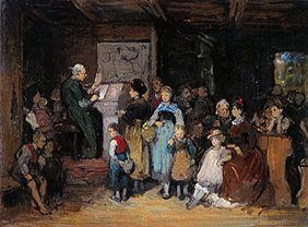 von Defregger, Franz : The school enrolment