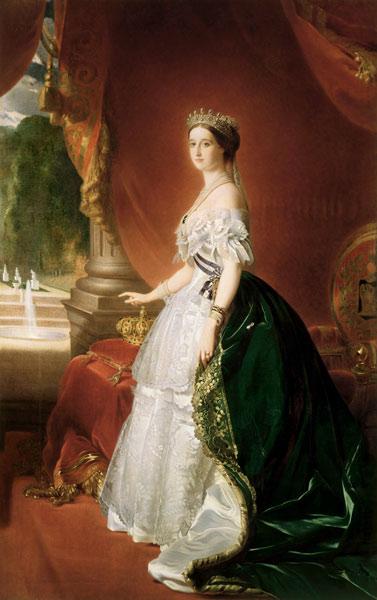 Portrait of Empress Eugenie of France (1826-1920), born de Montijo, Countess of Teba - oil