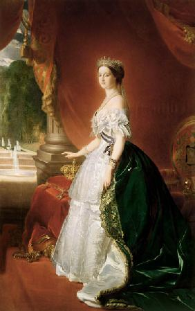 Portrait of Empress Eugenie of France (1826-1920), born de Montijo, Countess of Teba